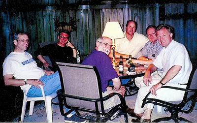 David L. Robbins and his poker buddies