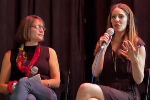 Meg Medina and Aimee Agresti