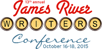 Logo for the 13th Annual James River Writers Conference on October 16-18, 2015