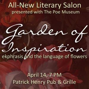 Literary Salon Graphic - Garden of Inspiration: Ekphrasis and the Language of Flowers