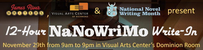 12-Hour NaNoWriMo Write-In at Visual Arts Center