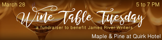 Wine Table Tuesday, a fundraiser to benefit James River Writers